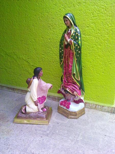 Virgen de guadalupe imagenes religiosas la llama dorada - Pasta de fibra de vidrio ...